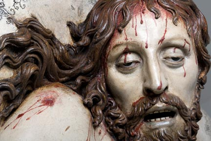 Detail from Gregorio Fernández, 'Dead Christ' (c.1630)